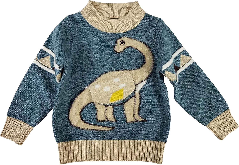 Boy's Crew Neck Pattern Sweater Animal Pullover Sweater Sweatshirt