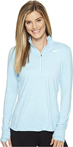 Nike Dri Fit Element Half Zip Pullover Deep Royal Blue Reflective ...