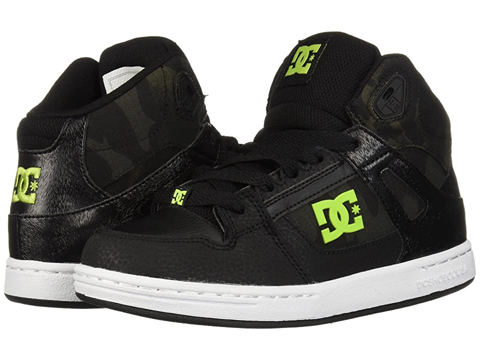 DC Kids Pure High-Top SE (Little Kid/Big Kid) (Black/Camo) Boys Shoes