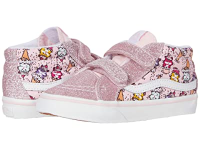 Vans Kids Sk8-Mid Reissue V (Infant/Toddler) ((Kitty Cakes) Blushing Bride/True White) Girls Shoes