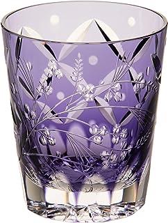 Kagami Crystal (Edo Kiriko Shochu Rock Glass < Hagi and Pampas Grass > Traditional Craftsman Root Tatsuya 230cc T557-2650CMP