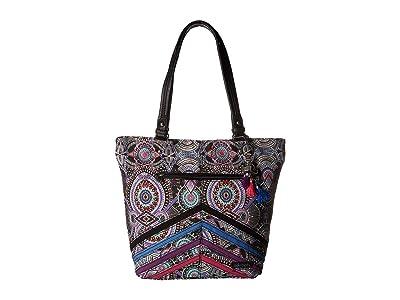 Sakroots Asbury Tote (Onyx Wanderlust) Tote Handbags