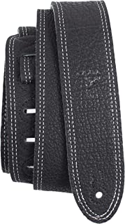 """Perri's Leathers Ltd Guitar Strap, 2"""" Wide Deluxe Italian Leather, Super Soft Suede Backing, Adjustable Length, (BM2DS-670..."""