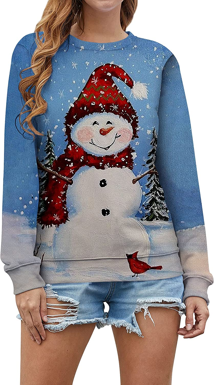 RMCMS Christmas Top For Women, Xmas Symbolic Graphic For Party, Gathering, Celebrating, Family Sweatshirt