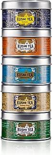 Kusmi Tea Brunch Sampler Gift Set - Enjoy Our Classic Kashmir Chai spiced tea, iconic Anastasia black tea, Imperial label, English Breakfast and Green tea with min (5 mini Tins of loose leaf tea)