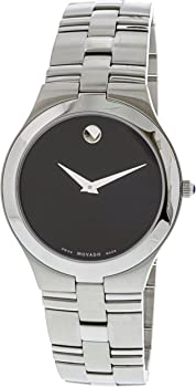 Movado Juro Black Dial Stainless Steel Men's Watch
