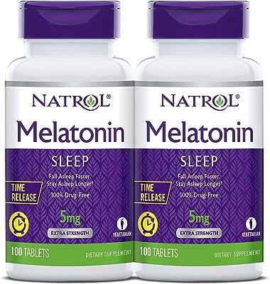 Natrol Melatonin Time Release Tablets, 5mg, 100 co…