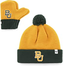 '47 Infant NCAA Baylor Bears Embroidered Pom Knit Hat and Mitten Set