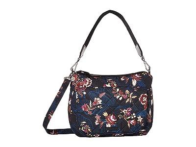 Vera Bradley Carson Performance Twill Shoulder Bag (Garden Dream) Shoulder Handbags
