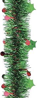 Brite Star 12ft Pine Green Holly Diecut Tinsel