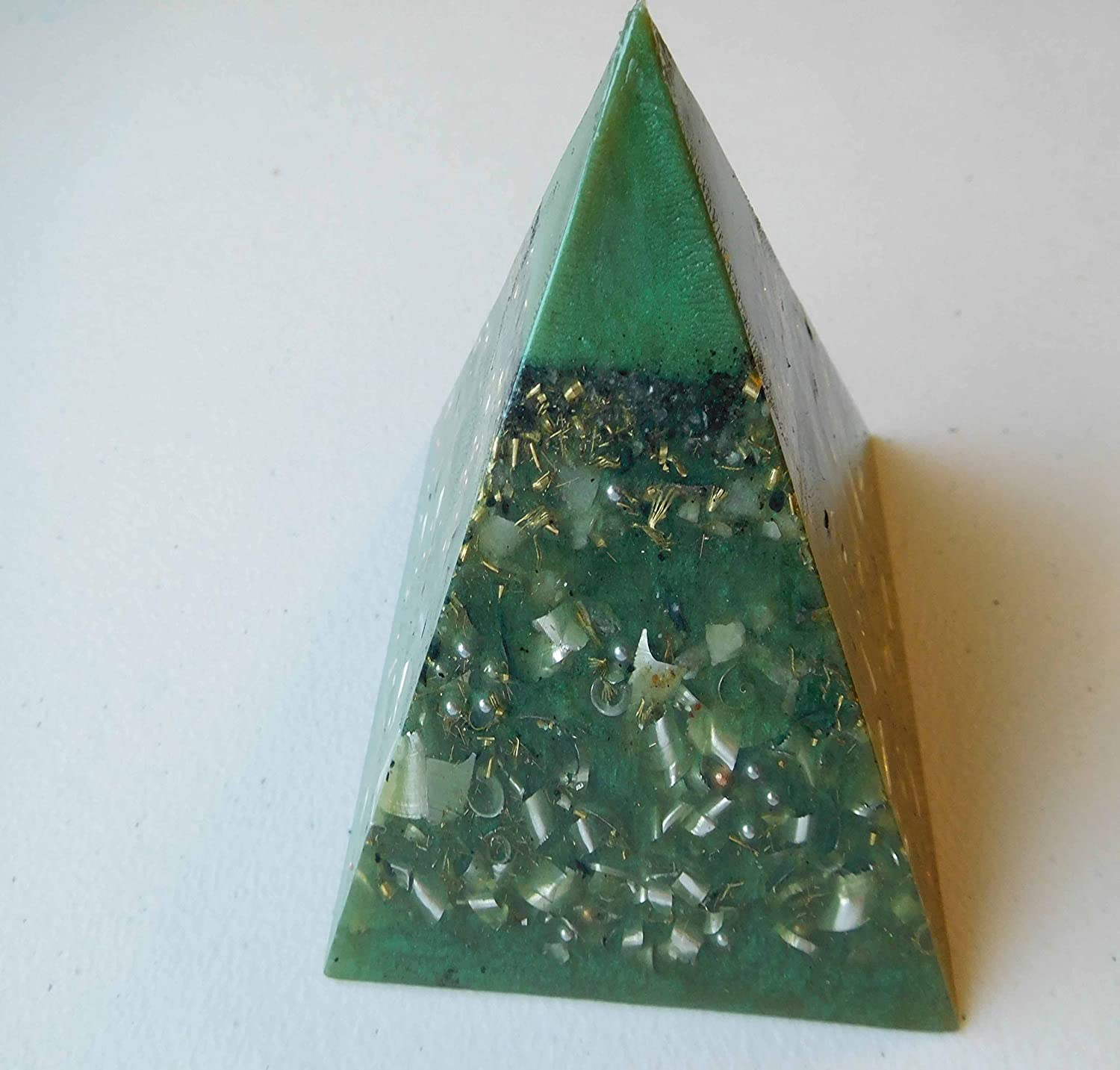 Spring Super beauty product restock quality top Green Tall Large Pyramid Accumula Orgone Energy Outlet SALE Generator