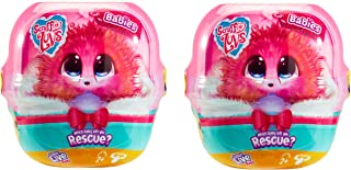 Little Live Pets Scruff-a-Luvs Babies – 2 Pack - All New Sparkly Characters - Mini Collectible Plush Scruff-a-Luvs -Styles...