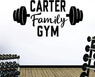 Personalized Custom Family Name Business Center Gym Wall Decal Sticker Customized Choose Size Color Vinyl Fitness Workout ...