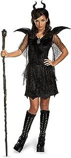 Disney Maleficent Movie Black Gown Tween Deluxe Costume, Medium/7-8