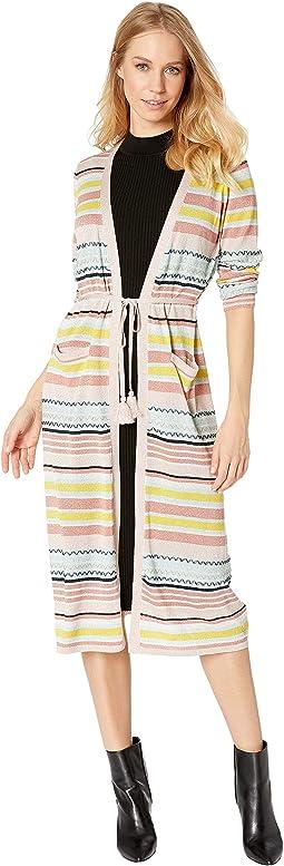 Lurex Stripe Lightweight Cardigan
