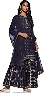 W for Woman Women's Cotton Straight Salwar Suit Set