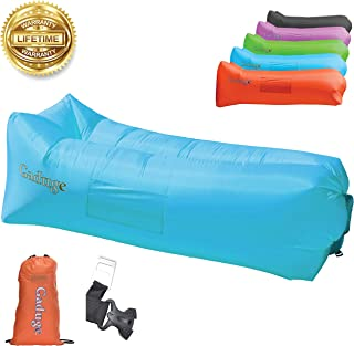 Gaduge Upgraded 2019 Giant Inflatable Lounger Chair Hangout Sofa with 10 Useful Accessories in 8 Fun Colors! Waterproof Inflatable Couch Bed for Indoor, Outdoor, Pool, Beach, Camping and More!