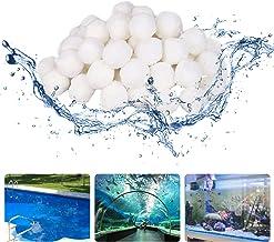Bolas de filtro 700g para accesorios de piscina, bolas de filtro Bomba de filtro de arena para piscina Wirpoolpool al aire libre, súper absorción de agua puede reemplazar arena de filtro de 26 kg