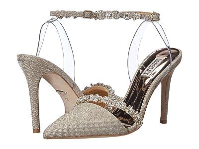Badgley Mischka Adelina (Platino Diamond Textile) High Heels