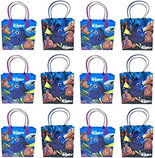 Disney Finding Dory Premium Quality Party Favor Reusable Goodie/Gift/Bags 12 Pieces
