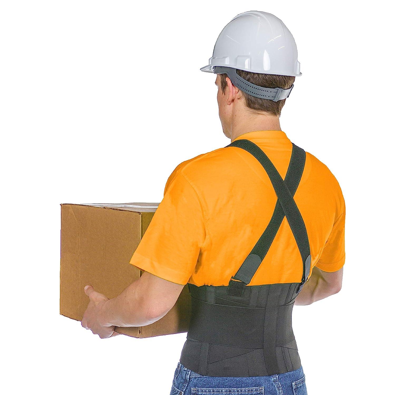 Latest item BraceAbility Industrial Work Bombing free shipping Back St Suspender Brace Removable