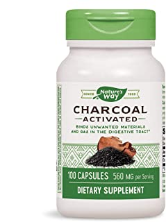 Nature's Way Charcoal Activated, 100 Capsules, 560 mg per serving (Packaging May Vary)