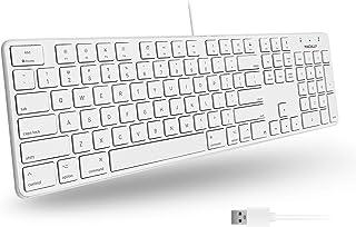 (Wired Keyboard) - Macally Ultra-Slim USB Wired Keyboard for Apple Mac Pro, Macbook Pro / Air, iMac, Mac Mini, Laptop, & W...