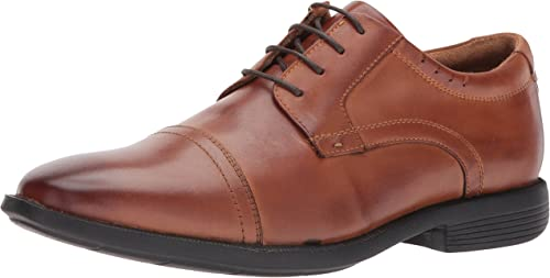 Nunn Bush Men's Dixon Cap Toe Lace Up Oxford, Cognac, 9.5 W US