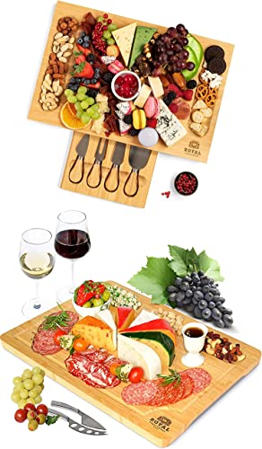 wholesale Bamboo Cheese Board with Knife Set and Charcuterie Board by Royal popular Craft wholesale Wood sale