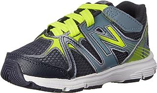 New Balance Kid's 697 V1 Running Shoe, Grey/Yellow, 2 M US Infant
