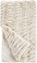 Fabulous Furs: Faux Fur Luxury Throw Blanket, Ivory Mink, Available in generous sizes 60