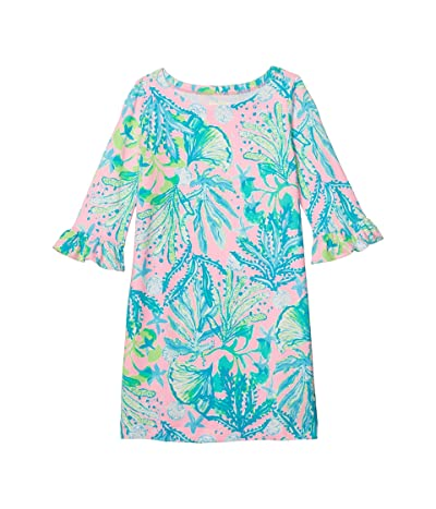 Lilly Pulitzer Kids UPF 50+ Mini Sophie Ruffle Dress (Toddler/Little Kids/Big Kids) (Mandevilla Baby Hip Nautic) Girl