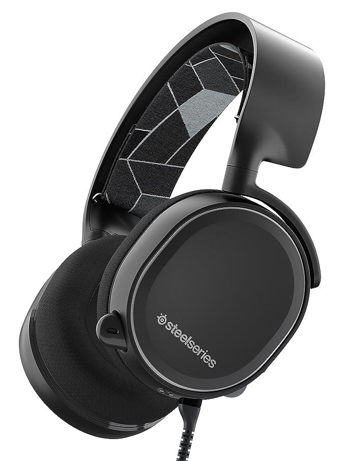 ブラジャー遠え音SteelSeries Arctis 3 Gaming Headset with 7.1 Surround for PC, PlayStation 4, Xbox One, VR, Android and iOS - Black by SteelSeries