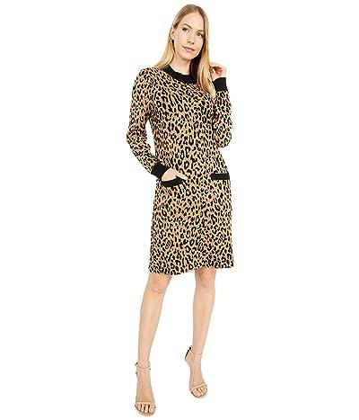 J.Crew Mock Neck Sweaterdress in Leopard