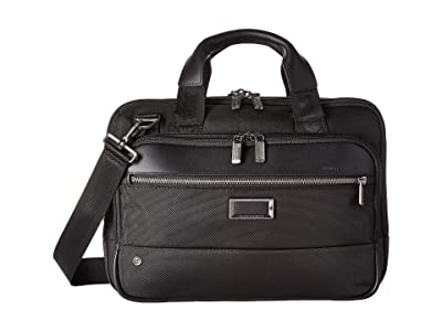 Briggs & Riley @Work Small Expandable Brief (Black) Briefcase Bags