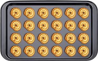 Plaque à Patisserie Noir,Plaque Rectangulaire Pan en Acier au Carbone,Biscuit Plat de Plaque de Cuisson Antiadhésive Revêt...