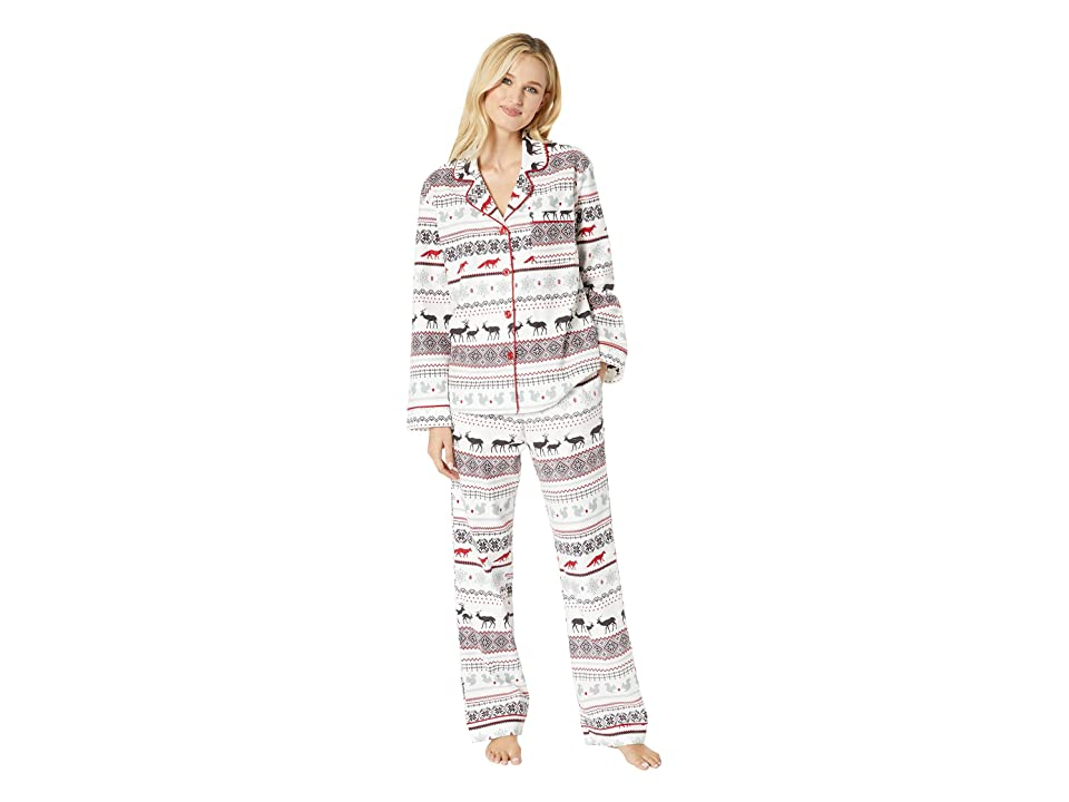 BedHead Long Sleeve Classic Notch Collar Pajama Set (American Fairisle) Women