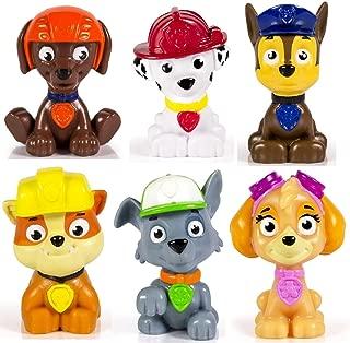 BEST Seller Kids Paw Patrol Mini Figures Set of 6 - Rocky, Zuma, Skye, Rubble, Marshall & Chase