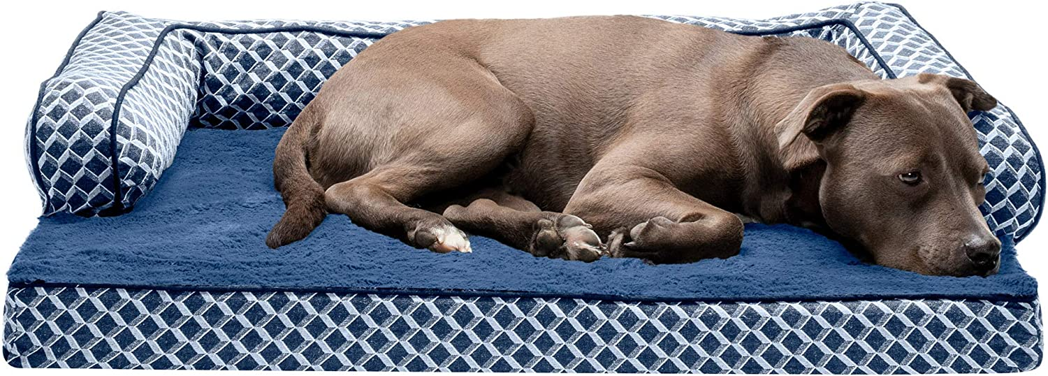 Furhaven Pet Max 55% OFF Dog Bed - Orthopedic and Comfy Faux Fur Décor Plush Selling rankings