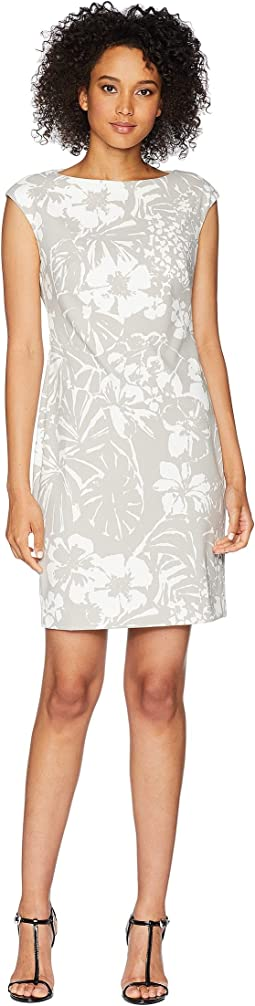 Floral Crepe Sheath Dress