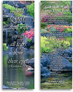 eThought BB-B050-25 Bible Verse Cards, by - Revelation 21:4 - God Shall Wipe Away Every Tear - Pack of 25 Bookmark Size Cards, 2
