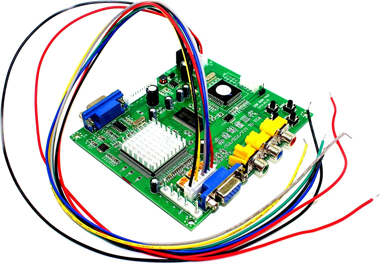 Paddsun Video Converter Arcade Game RGB CGA EGA YUV to VGA HD Video Converter Board 1 VGA Single Output Jamma Game Monitor to CRT LCD PDP GBS-8200 Projector US New : Electronics