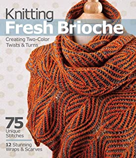 knitting fresh brioche creating two color twists and turns