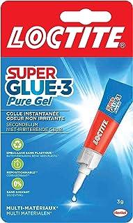 Loctite Super Glue-3 Pure Gel, colle transparente & puissante, colle forte formule gel sans odeur ne colle pas les doigts,...