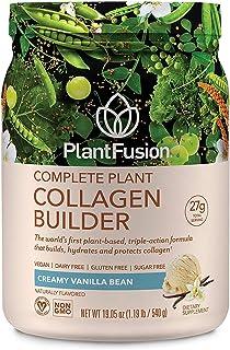 PlantFusion Collagen Builder Plant Based Peptides Protein Powder | Vegan Collagen Supplement |Collagen Building, Skin Hydr...