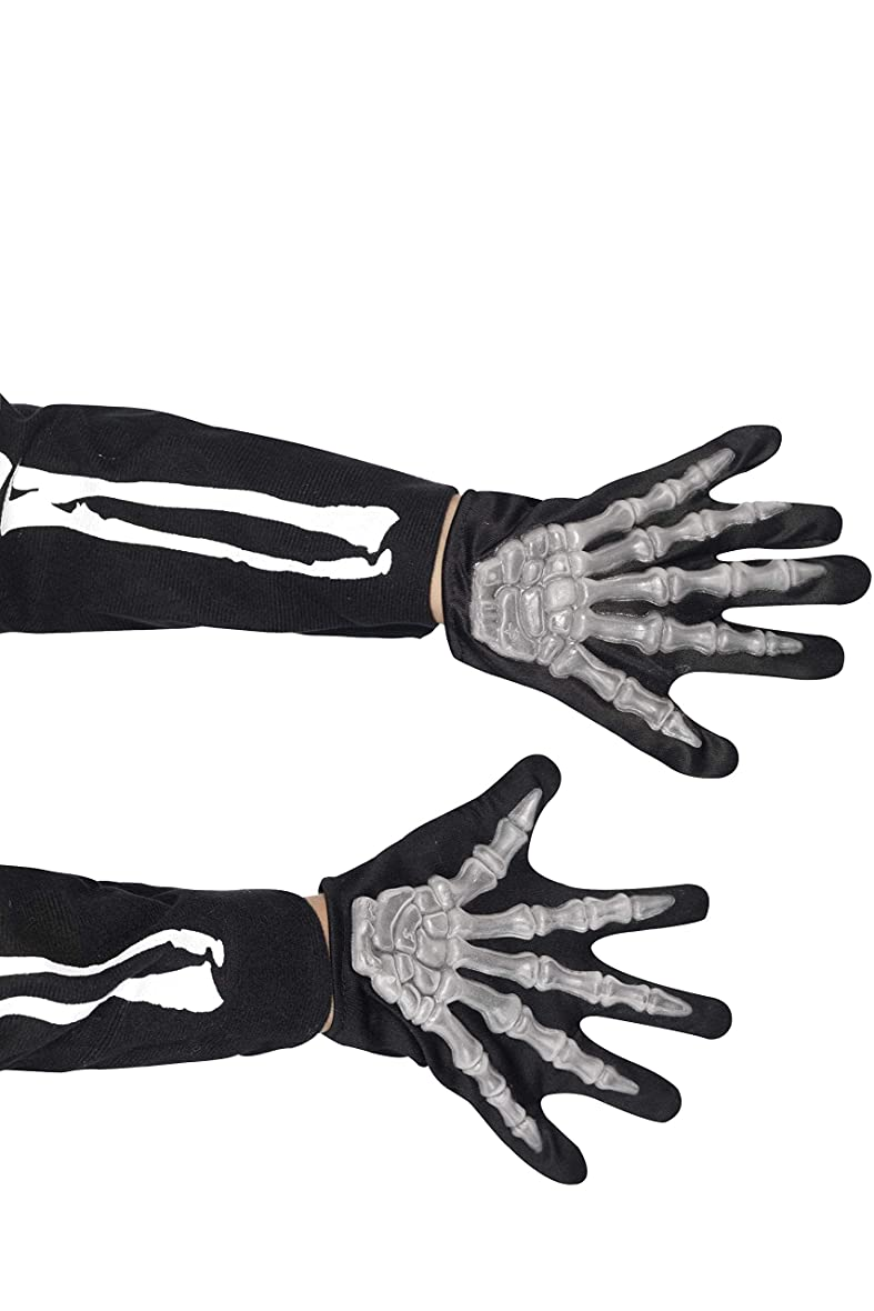 大きさ犯人職業Smiffy's Gloves Skeleton Childs Raised Bones