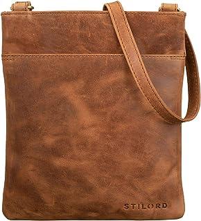 """STILORD Alicia"""" Kleine Ledertasche Umhängetasche Damen Ausgehtasche Schultertasche Handtasche Echtes Leder im Eleganten Vintage Design"""