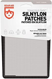 "Gear AID Tenacious Tape Silnylon Patches for Silicone Tent and Tarp Repair, 3""x5"""