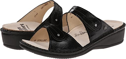 Black Patent Soft Footbed