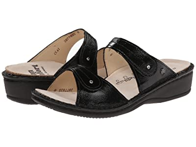 Finn Comfort Catalina 2538 (Black Patent Soft Footbed) Women